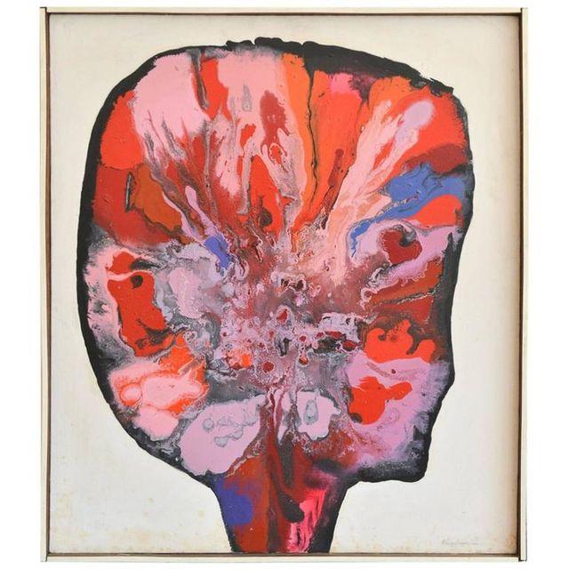 Original Oil on Canvas 'Landscape of the Mind', Lawrence Kupferman, 1964
