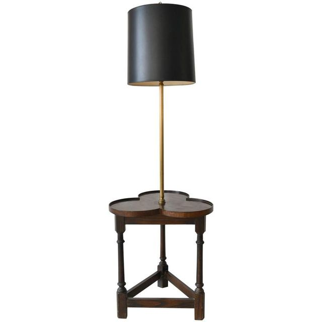 Tripod Base Clover Floor Lamp with Table by Frederick Cooper, ca. 1950