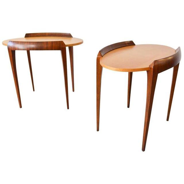 Pair of Modern Side Tables or Nightstands