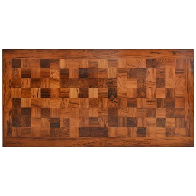 Rosewood Parquet Rectangular Coffee Table by Poul Cadovius