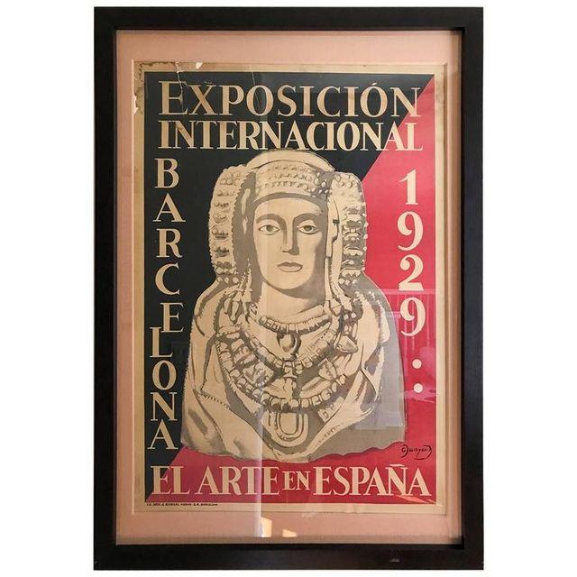 Original World's Fair Poster from Barcelona, 1929