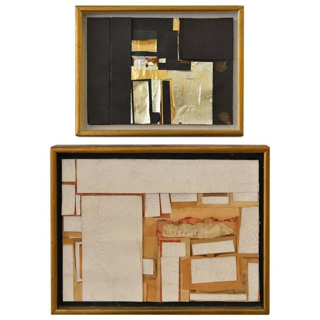 Set of Paper Collage Wall Hangings by Artist John Dunn, ca. 1960