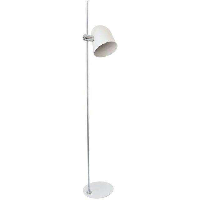 White Enamel Standing Floor Lamp by Robert Sonneman, ca. 1970