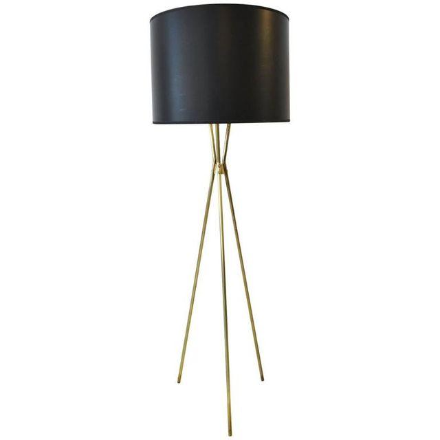 Gerald Thurston for Lightolier Standing Brass Tripod Lamp