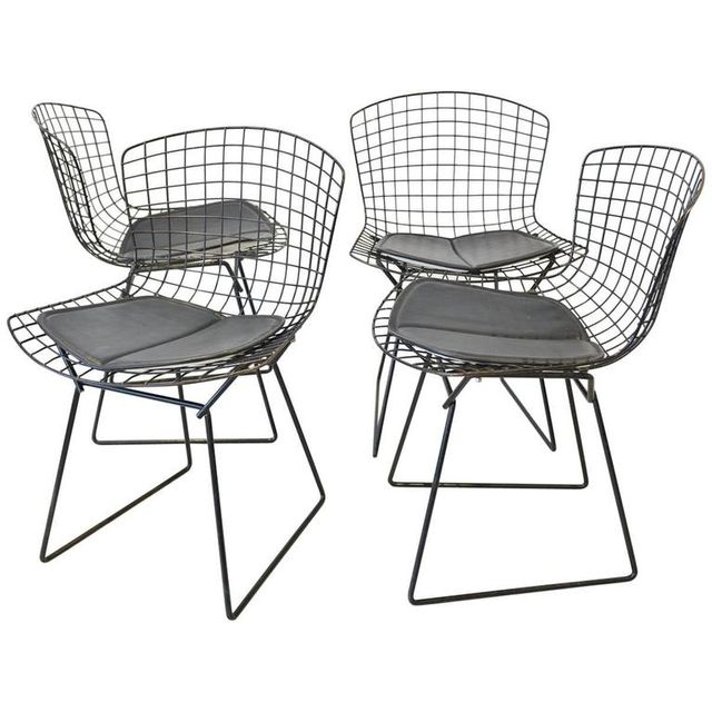 Set of 4 Original Bertoia for Knoll Dining Chairs