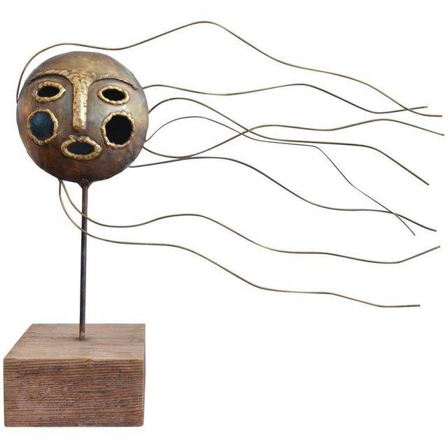 Modernist Face Sculpture by Emaus
