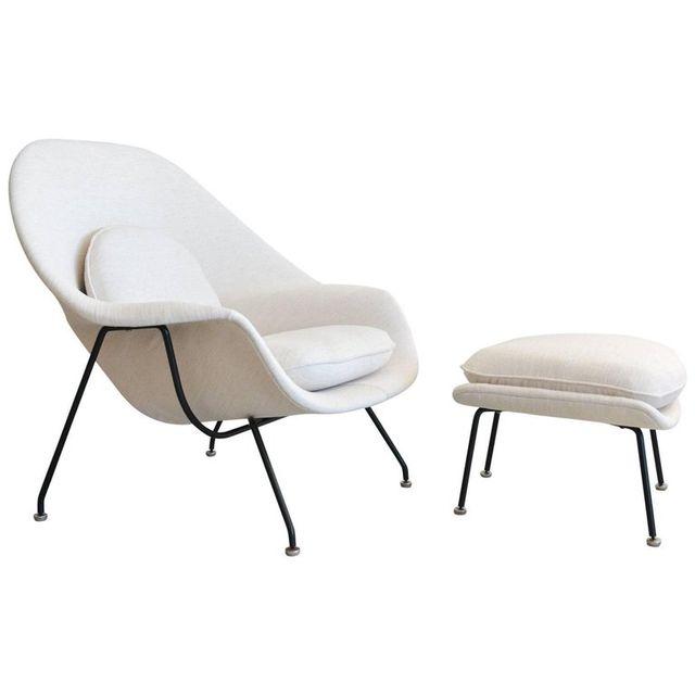 Eero Saarinen for Knoll Womb Chair and Ottoman, ca. 1965