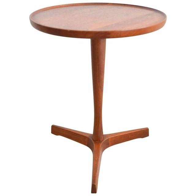 Hans Andersen Teak Tripod Side Table