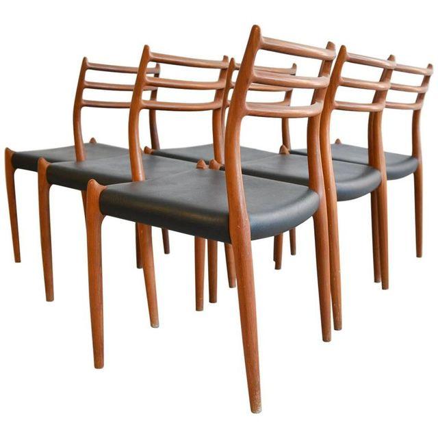 Set of 6 Niels Moller Model 78 Teak Dining Chairs, ca. 1965