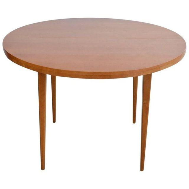 Paul McCobb Round Dining Table with 2 Extension Leaves, ca. 1955