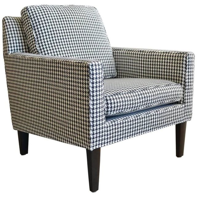Houndstooth Check Lounge Chair by Edward Wormley for Dunbar