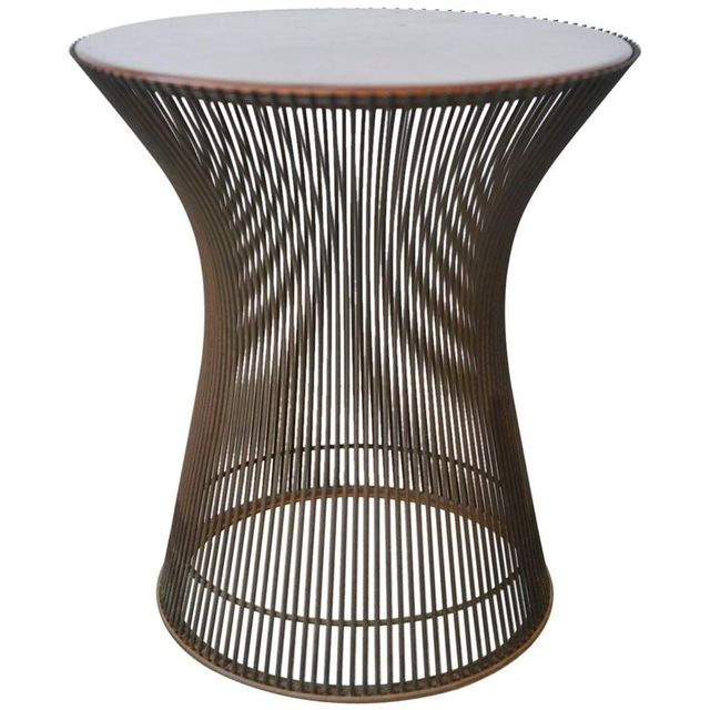 Rosewood and Bronze Side Table by Warren Platner, c. 1965
