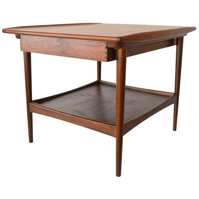 Teak and Rosewood Side or End Table by Moreddi, ca. 1965
