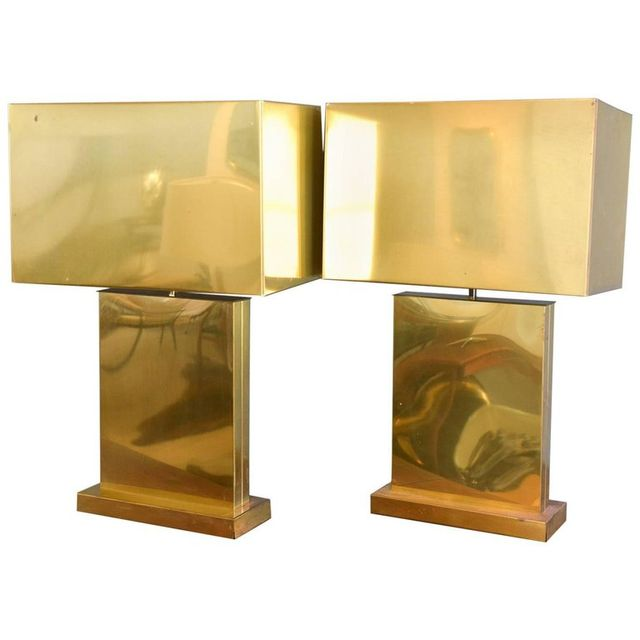 Pair of Brass Lamps by Curtis Jere, 1976