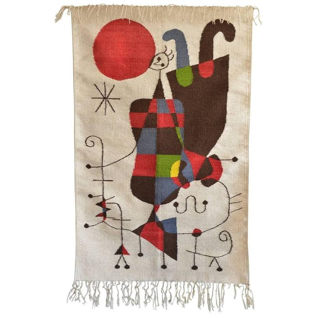 Joan Miro 'Upside Down Figures' Tapestry, ca. 1965