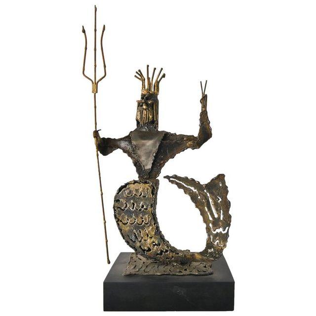 Metal Neptune Sculpture by California Artist Jack Hanson, ca. 1965