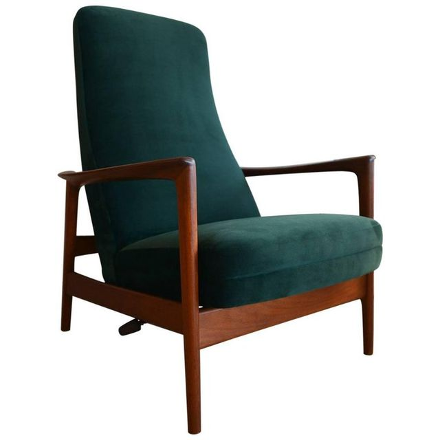 Folke Ohlsson for DUX High Back Reclining Lounge Chair, circa 1968