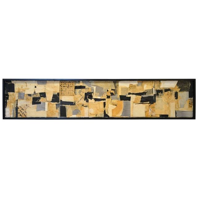 Large Mixed-Media Collage by California Artist Don Werner, 1929-2010