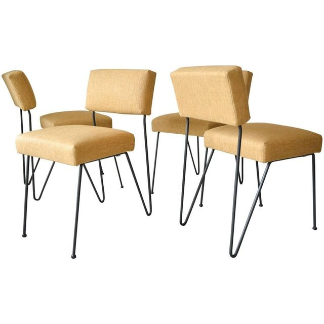 Rare Set of 4 Iron Chairs by Vista of California, ca. 1955