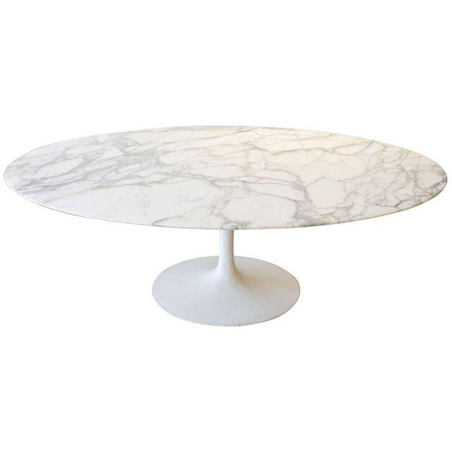 Eero Saarinen for Knoll Vintage Oval Marble Dining Table, ca. 1961
