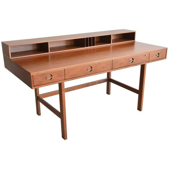 Walnut Partners Desk by Jens Quistgaard for Lovig, 1971