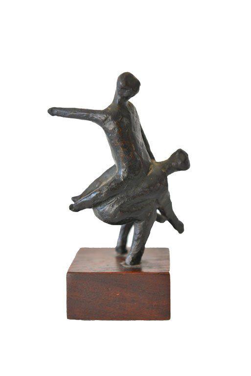 Figurative Bronze Sculpture by Laguna Beach Artist John Dunn, ca. 1965