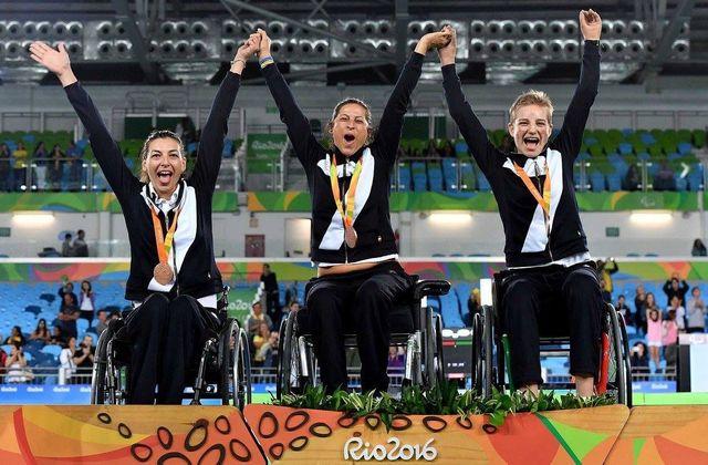 Podio scherma olimpiadi Rio 2016