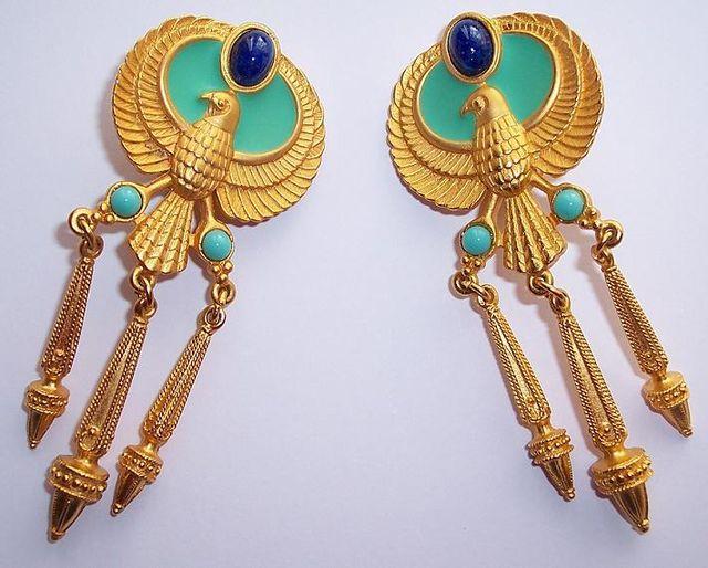 Elizabeth Taylor Egyptian Earrings