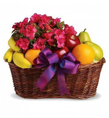 Fruit and Blooms Basket $54.95