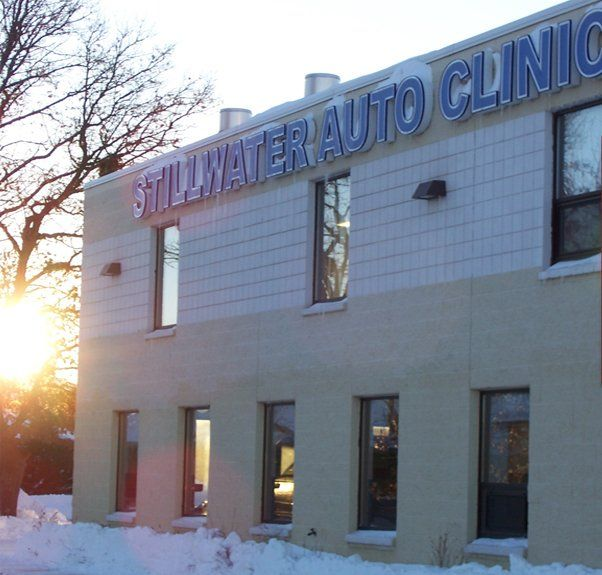Front view of our Stillwater Auto Clinic store