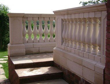 cream coloured balustrade