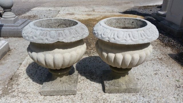 Pair of Selby Urns - Weathered