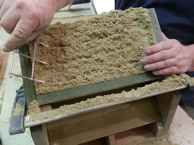 sand being poured