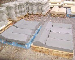 twice weathered coping stone in grey coloured