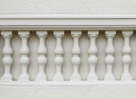 white balustrading