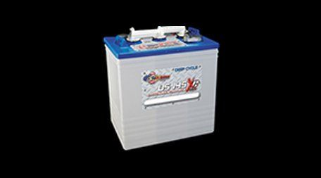 blue and grey vehicle battery