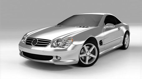 silver mercedes type car