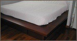 basi per letto in legno, cornice letto, letto legno scuro