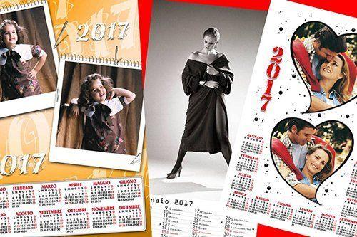 stampa foto su calendari