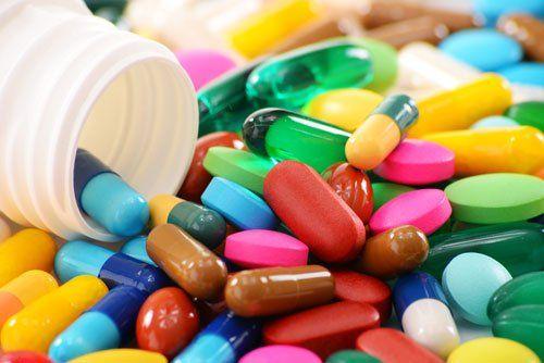 delle pillole colorate
