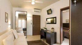 ventilatore da soffitto, tv lcd, camera studio