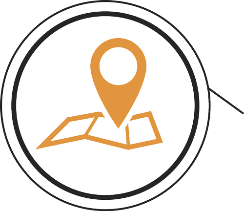Map And Map Pin Icon