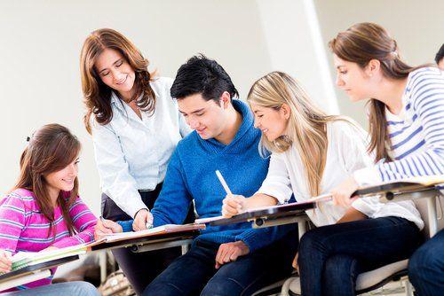 SAT test preparation in a classroom in Johns Creek, GA