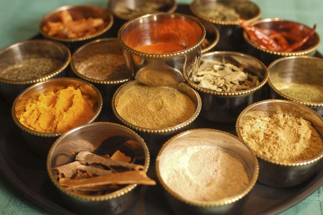 Spices used at Indian restaurant in Invercargill