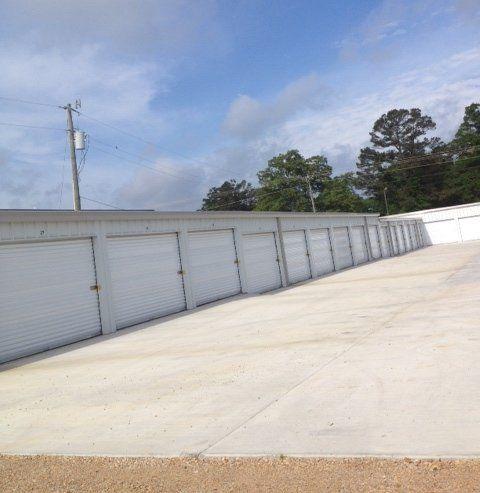 Row of garage storage units
