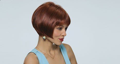straight hair wig of short length