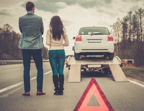 L'autogru si porta el auto