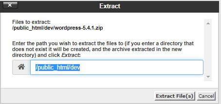 Extract WordPress Folder