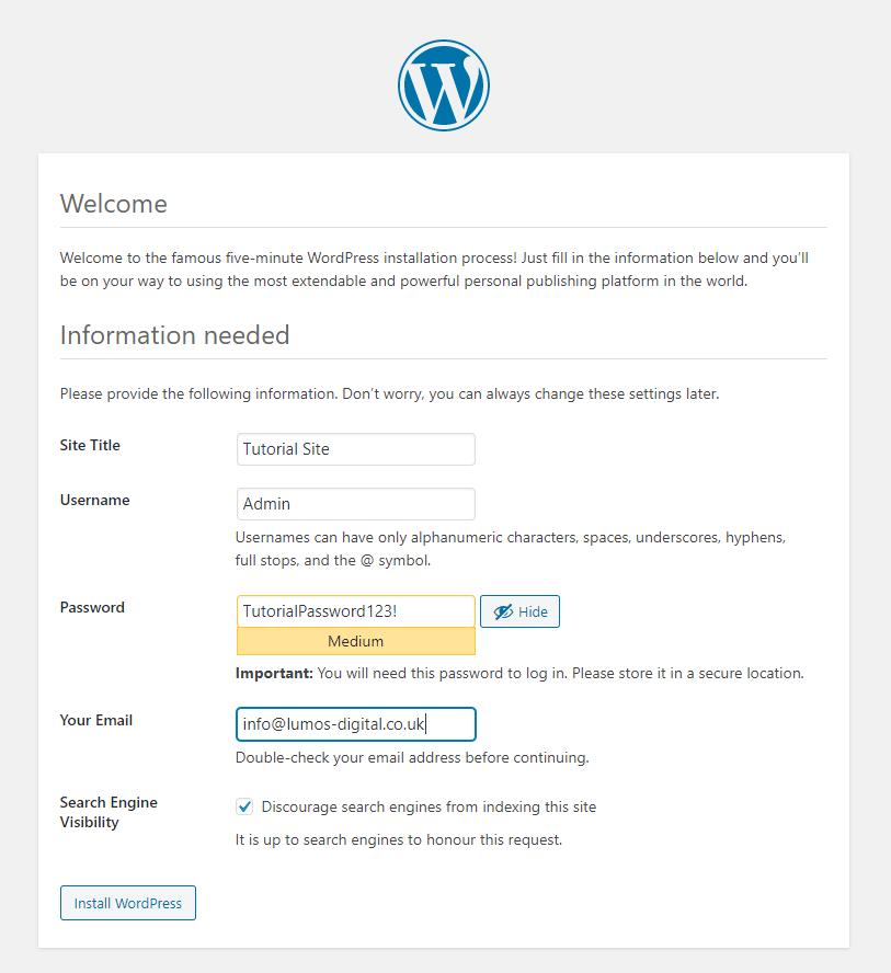 Set Up Basic Site Information