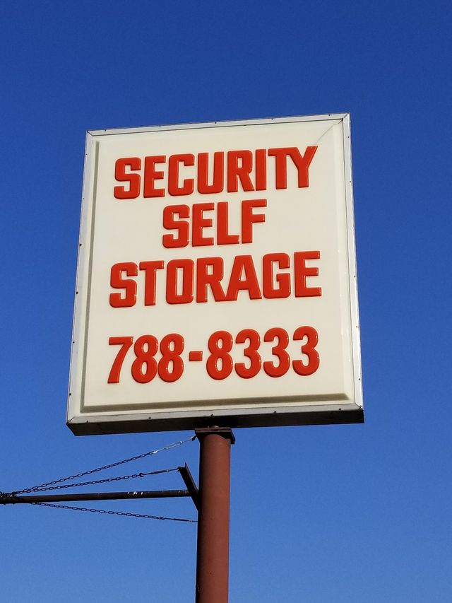 Security Self Storage Sign